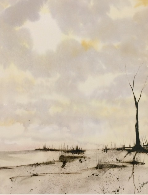 Forsaken Landscape 1- Manon Jodoin Studio - watercolor