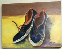 Blue Shoes, Acrylic, 12x16, $250