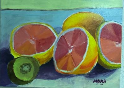 Fruits, Acrylic,11x14, $150