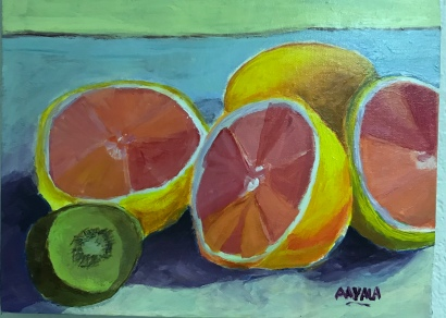 Fruits, Acrylic,11x14, $150