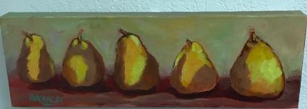 Five Pairs, Acrylic, 18x6, $150