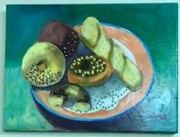Pastries, Acrylic,12x16, $150